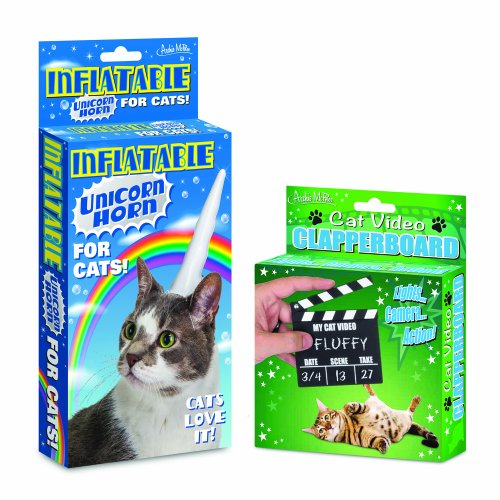 inflatable-vinyl-unicorn-horn-and-video-clapperboard-set-to-make-your-cat-the-next-break-out-video-s