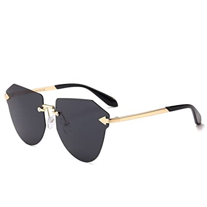 DONG Gafas de sol polarizadas masculinas y femeninas Gafas de sol sin marco metálicas para niños