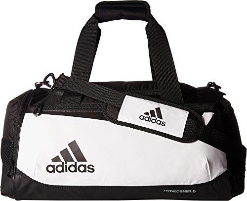 adidas Team Issue Duffel Bag, White/Black, Small