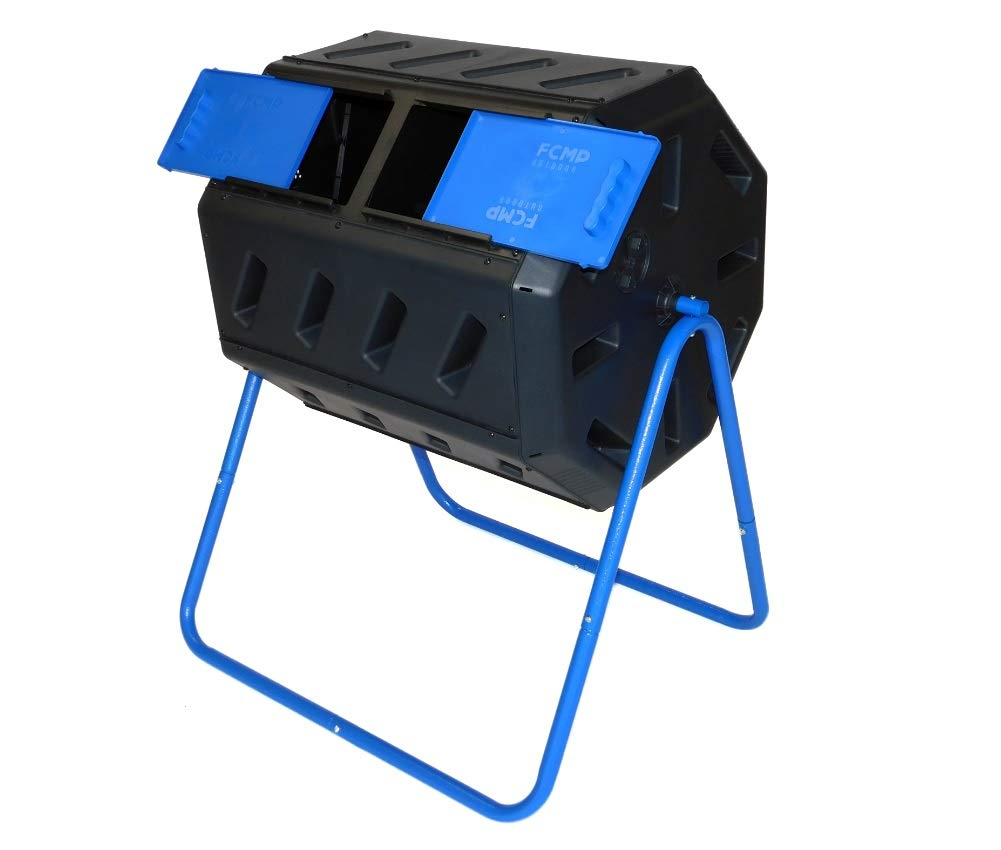 FCMP Outdoor Dual Chamber Tumbling Composter with Double Doors