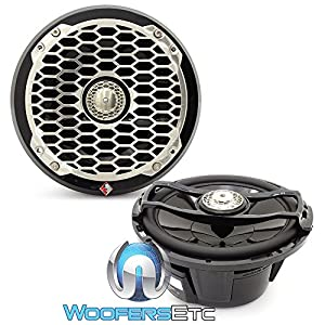 "Pair Rockford Fosgate PM2652B 6.5"" 340 Watt Marine Boat Component Speakers Black"