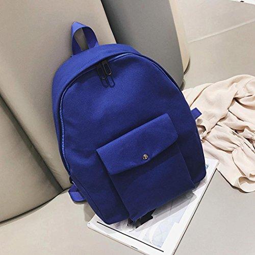 De Estudiantes Bolsillo Euzeo Mochila Adultos Mochila Bolsos Oscuro Los Azul De Escolar Atasca Sólidos Bolso Adolescentes xqT7wxPn0