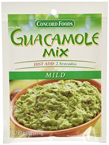 (Concord Foods Mild Guacamole Seasoning Mix 1.1oz packages (VALUE Case of 6)