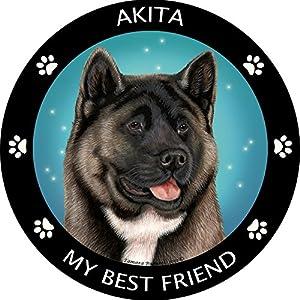 Silver Akita My Best Friend Magnet 2