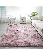 kinganda Area Rugs Clearance, Soft Shag for Bedroom Rugs, Shaggy Non Slip, Fluffy Large Small Rugs for Living Room Kids Room, Washable Nursery Carpet, Kids Area Rug