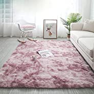 kinganda Area Rugs Clearance, Soft Shag for Bedroom Rugs, Shaggy Non Slip, Fluffy Large Small Rugs for Living