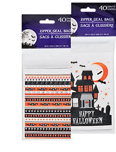 [Halloween Bags Trick or Treat Candy Favor 80 Goodie Packs] (Quick Costume Ideas For Work)