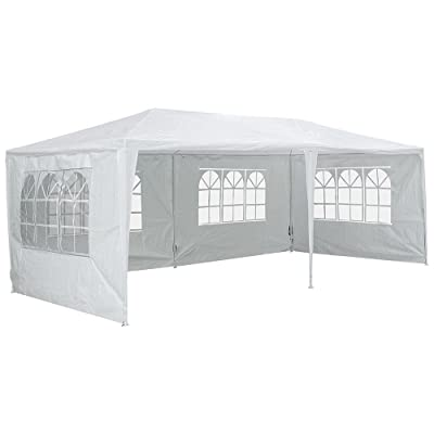 Yescom 20'x10' Outdoor Wedding Party BBQ Patio w/ 4 Removable Side Walls White Canopy Shelter : Garden & Outdoor