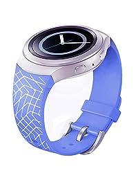 Watch Band, ABC Luxury TPU Silicone Watch Band Strap for Samsung Galaxy Gear S2 SM-R720 (purple 2 )