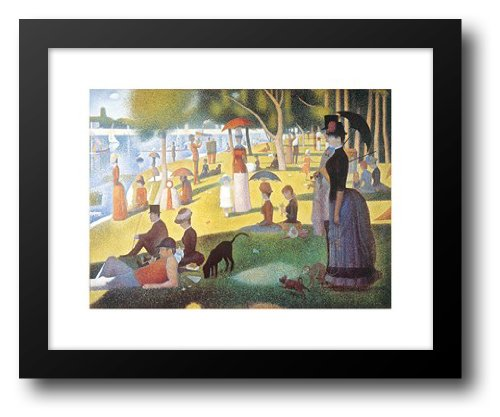 - Sunday Afternoon on the Island of La Grande Jatte, c.1886 18x15 Framed Art Print by Seurat, Georges