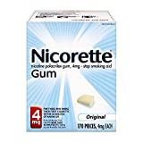 Nicorette Nicotine Gum, Stop Smoking Aid, 4mg, Original Flavor, 170 count