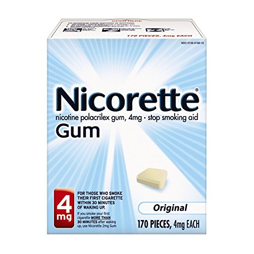 Nicorette Nicotine Gum to Stop Smoking, 4mg, Original, 170 Count -