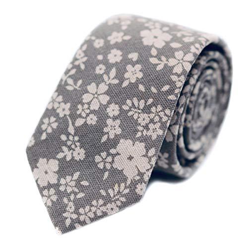Design Mens Tie - JESLANG Men's Cotton Printed Floral Tie 2.56
