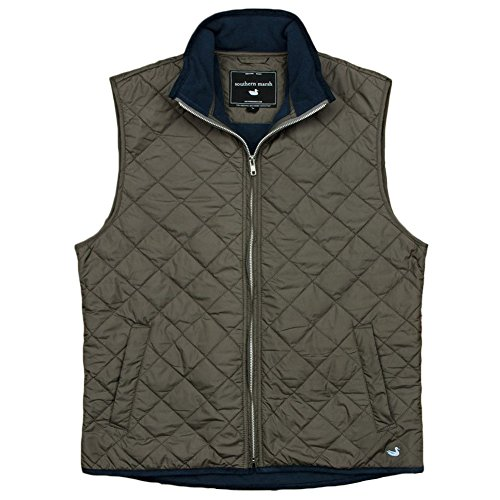 Southern Marsh Marshall Quilted Midnight Gray XL Mens Vest