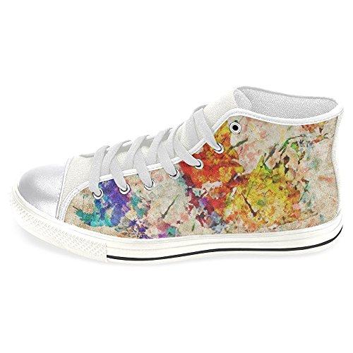 Interestprint Femmes Haut Haut Classique Casual Toile Chaussures De Mode  Formateurs Sneakers Coloré Gribouillis c8736f000b06