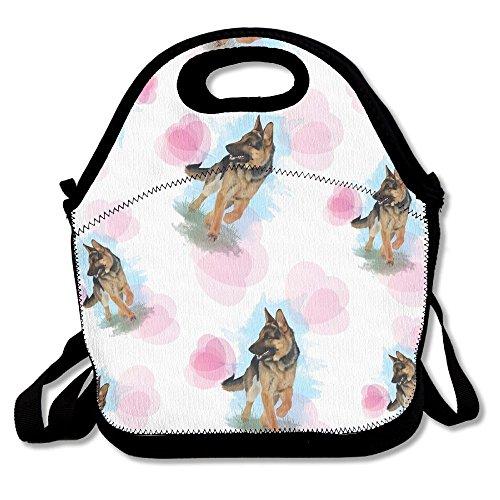 Most Fashion Maker German Shepherd Dog Lovers Lunch Bags Insulated Travel Picnic Lunchbox Tote Handbag Shoulder Strap Women Teens Girls Kids Adults (Lunch Maker School Box)