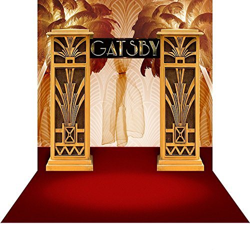 Photo Backdrop - Gatsby Grandeur - 10x20 Ft. With Floor Seamless Polyester Fabric (Gatsby Backdrop)