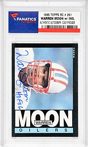 Warren Moon Houston Oilers Autographed 1985 Topps #251 Rookie Card with HOF 06 Inscription - Fanatics Authentic Certified