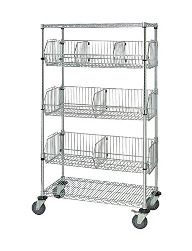 Quantum Storage Systems Mobile Wire Basket Units - Chrome- 18