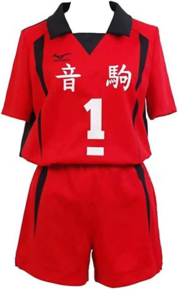 Haikyuu Cosplay Costume Nekoma High School Volleyball Jersey Kozume Kenma Shirts Kuroo Tetsurou Tee for Adult and Kids