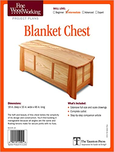 Amazon Com Fine Woodworking S Blanket Chest Plan Fine Woodworking Project Plans 9781600856310 Editors Of Fine Woodworking Books