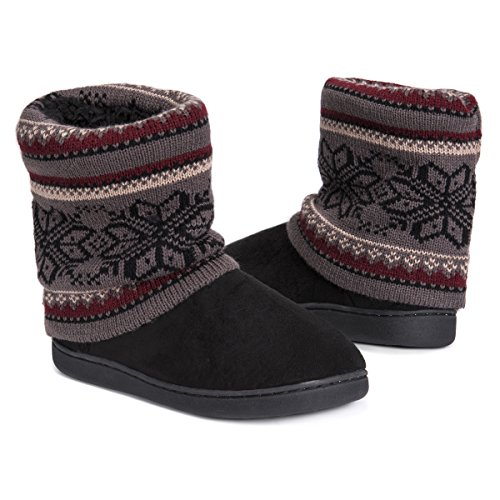 Pictures of MUK LUKS Women's Raquel Slippers-Charcoal, Medium M US 5