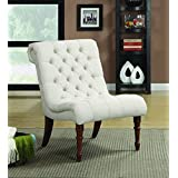 coaster home furnishings casual accent chair light brownwhite