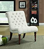 Coaster Home Furnishings Casual Accent Chair, Light Brown/White