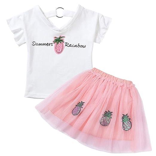 HEYG-Dress Vestir Moda Casual Top y Princesa Tutu Falda Conjunto ...