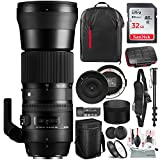 Sigma 150-600mm f/5-6.3 DG OS HSM Contemporary Lens for Canon EF with USB Dock, 32GB Card, Xpix Camera Cleaning Kit, and Deluxe Bundle
