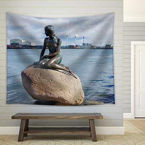 the Little Mermaid The Statue Symbol of Copenhagen Fabric Wall