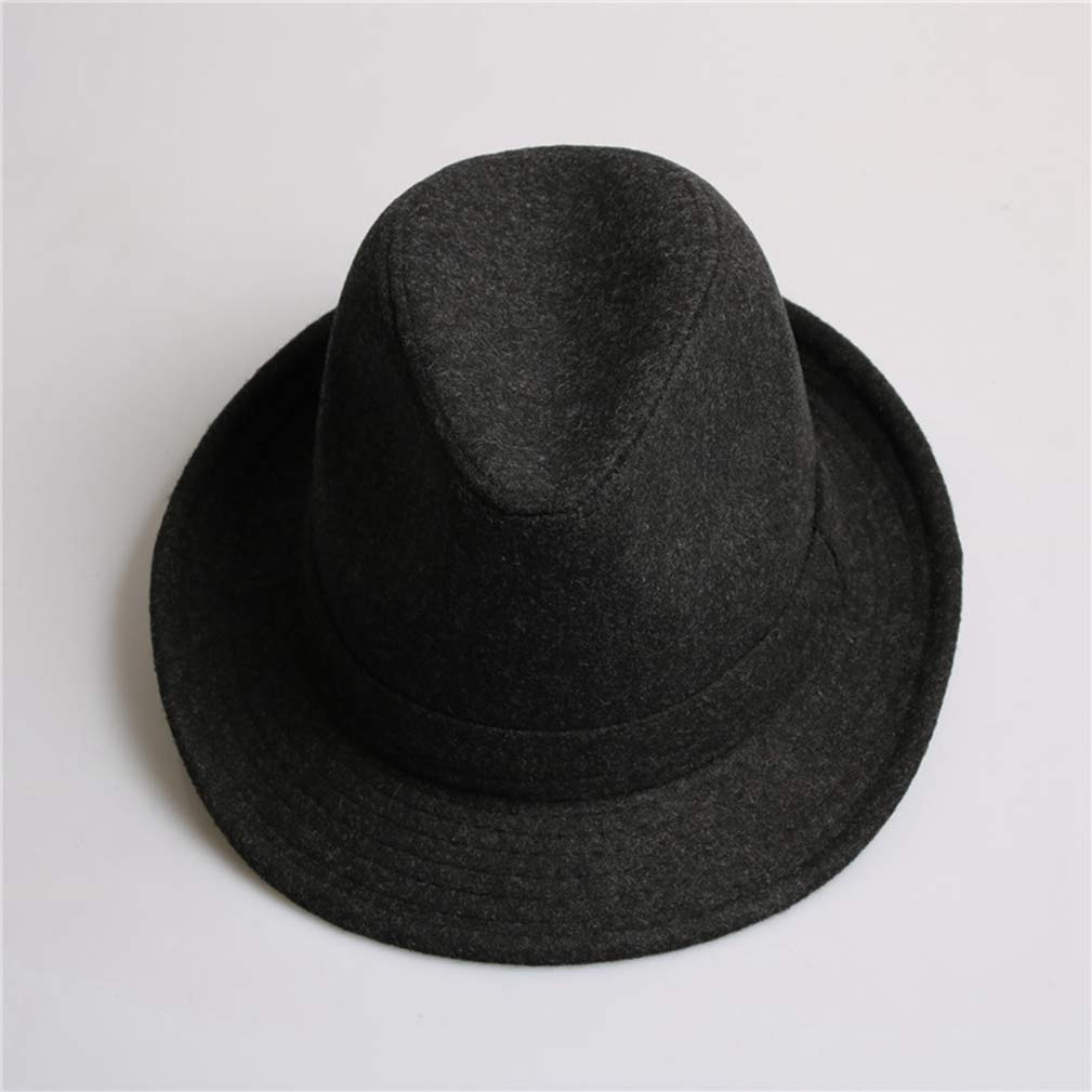 Unisex Structured Wool Dad Hats for Men Fedora Felt Hat Head Size 58 cm Jazz Hat Vintage Popular Wool Cap