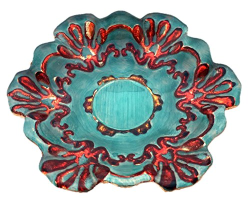 (Red Pomegranate 6604-6 Gilded Tableware Canape Plate 6.5