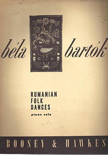 Rumanian Folk Dances: Piano Solo - Rumanian Dances