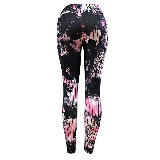 Cenyanga Mujeres Corbata Teñida Yoga Pantalones Moda Deporte ...