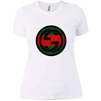 acb87521592 Image Unavailable. Image not available for. Color  Gucci Vintage White Ladies  T Shirt
