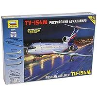 1: 144 Kit de avión modelo ruso de avión de pasajeros Tu-154m