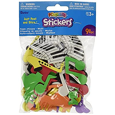 Foam Stickers 91/Pack, Music: Arts, Crafts & Sewing