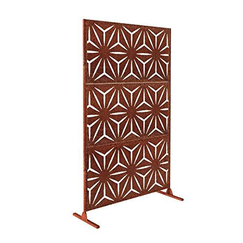 Veradek Star Decorative Screen Set w/Stand - Corten Steel ()