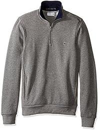Lacoste Men's Half Zip Lightweight Sweatshirt with Logo...