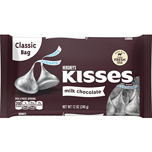 KISSES Milk Chocolates, 12 Ounce -