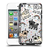 Head Case Designs Pug Unicorn Dog Patterns Hard Back Case for Apple iPod