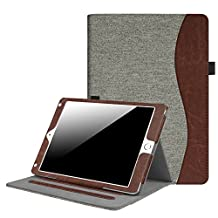 Fintie New iPad 9.7 Inch 2017 / iPad Air 2 / iPad Air Case - [Corner Protection] Multi-Angle Viewing Folio Stand Cover w/ Pocket, Auto Wake / Sleep for Apple iPad 2017 Model, iPad Air 1 2, Demin Grey