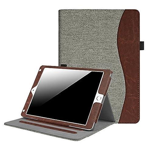 Fintie iPad 9.7 Inch 2017 / iPad Air 2 / iPad Air Case - [Corner Protection] Multi-Angle Viewing Folio Stand Cover w/ Pocket, Auto Wake / Sleep for Apple iPad 2017 Model, iPad Air 1 2, Demin (Ipad 2 Air Magnetic Cover)
