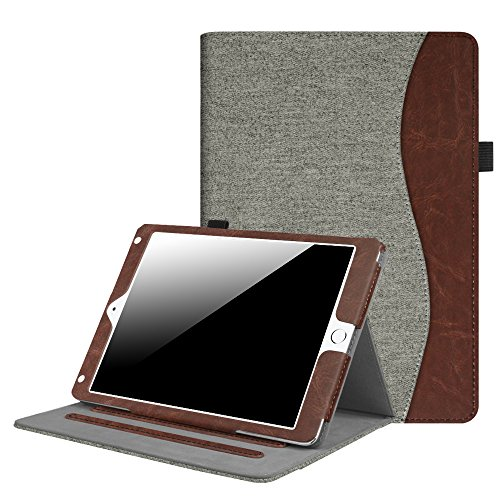 Fintie iPad 9.7 Inch 2017 / iPad Air 2 / iPad Air Case - [Corner Protection] Multi-Angle Viewing Folio Stand Cover w/ Pocket, Auto Wake / Sleep for Apple iPad 2017 Model, iPad Air 1 2, Demin Grey