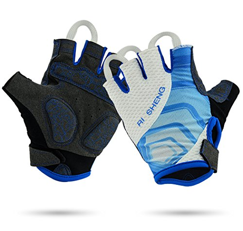 BicycleStore Professional Sports Cycling Gloves Breathable MTB Outdoor Bike Gloves Half Finger Bicycle Racing Gloves with Anti-slip Shockproof Gel for Men/ Women L/ XL (L)
