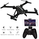 RC Drone with camera,Kingtoys Skyhunter Drone with WiFi 720P HD Camera,2.4GHz 4CH 6-Axis Gyro APP Control FPV Drone, Altitude Hold, Gravity Sensor and Headless Mode Function with 2pcs 650mAH Batteries