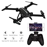 Drone RC Quadcopter Altitude Hold APP Control FPV Drone with WiFi 720P HD Camera Live Video, 2.4GHz 4CH 6-Axis Gyro Gravity Sensor and Headless Mode Function with 2 Batteries