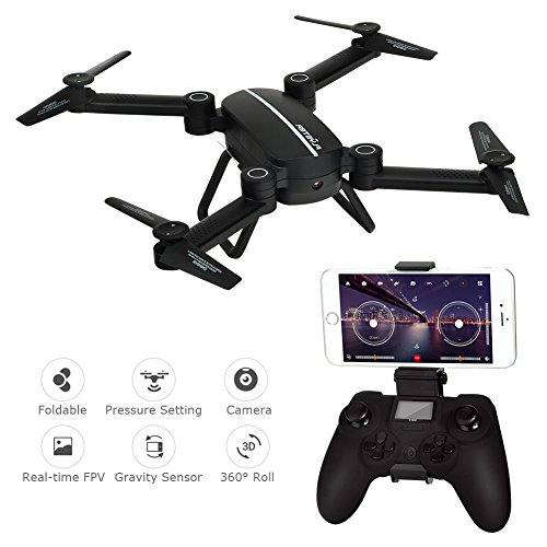 RC Drone with Camera Altitude Hold APP Control FPV Drone with WiFi 720P HD Camera Live Video, 2.4GHz 4CH 6-Axis Gyro Gravity Sensor and Headless Mode Function RC Quadcopter with 2 Batteries