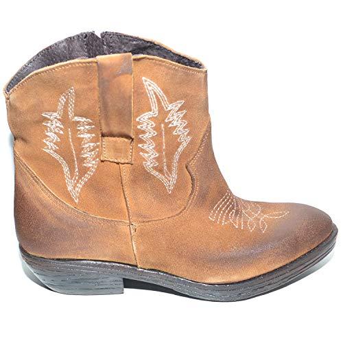 Stivaletti Caviglia Bruciato Zip Shoes In Nabuk A Spazzolato Donna Con E Malu Ricami Mano Cuoio Italy Scarpe Camperos Handmade 51vnHdqW